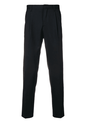 Entre Amis tailored straight leg trousers - Blue