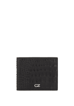 Giuseppe Zanotti embossed crocodile-effect logo wallet - Black