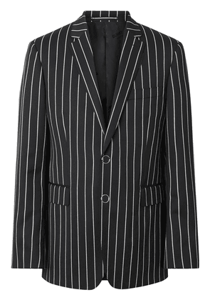 Burberry slim fit pinstriped tailored jacket - Black