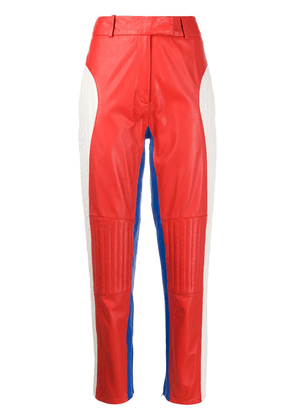 Frenken colour block panelled trousers - Red