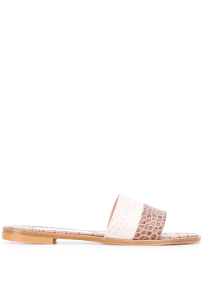 Avec Modération crocodile embossed sandals - Neutrals