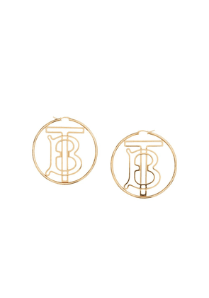 Burberry monogram motif hoop earrings - GOLD