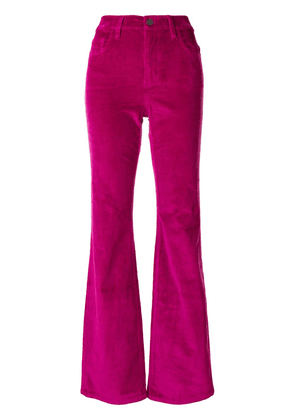 Current/Elliott flared corduroy trousers - Pink
