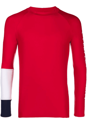 Perfect Moment panelled sleeve rash guard - Red