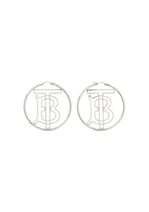 Burberry monogram motif earrings - SILVER
