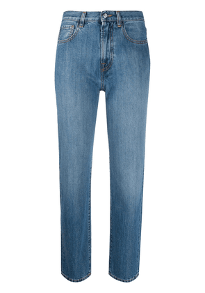 Moncler straight-leg cropped jeans - Blue