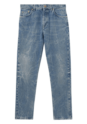 Burberry distressed straight-leg jeans - Blue