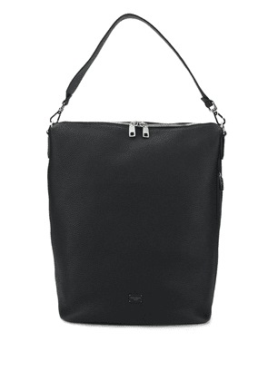 Dolce & Gabbana logo patch shoulder bag - Black