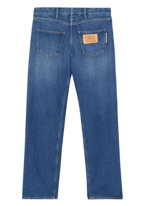 Burberry back-to-front straight leg jeans - Blue