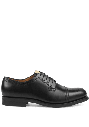 Gucci perforated leather brogues - Black