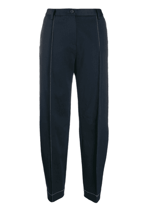 Eckhaus Latta contrast stitching tapered-leg trousers - Blue