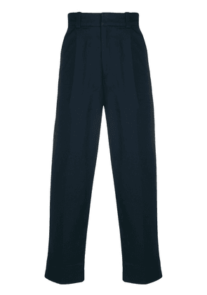 Acne Studios cropped tapered trousers - Blue