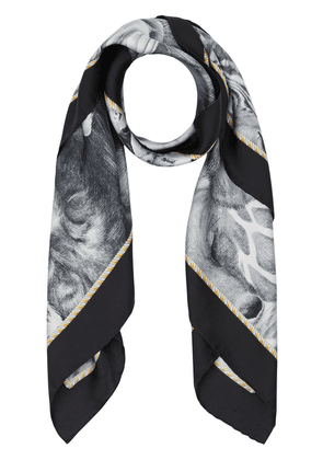 Burberry Animalia print square scarf - Grey