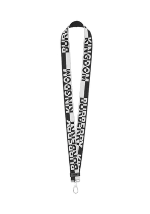 Burberry two-tone logo jacquard lanyard - Black