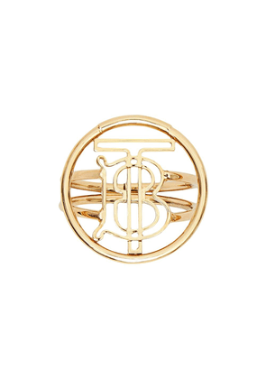 Burberry gold-plated monogram ring