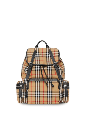 Burberry The Large Rucksack in Vintage Check backpack - Yellow