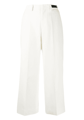 Moncler straight cropped trousers - White