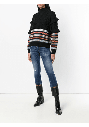 Dsquared2 Runway flared cropped jeans - Blue