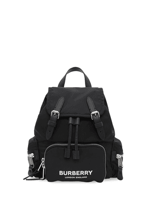 Burberry The Small Rucksack in Logo Print ECONYL® - Blue