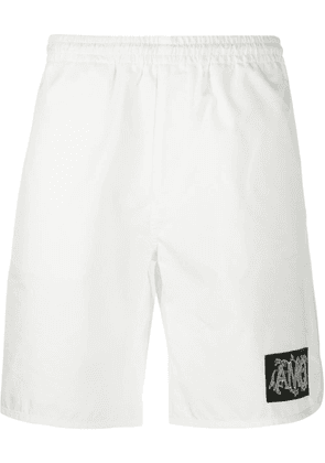 Alexander McQueen logo patch track shorts - White