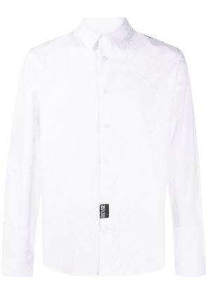 Versace Jeans Couture logo printed buttoned shirt - White
