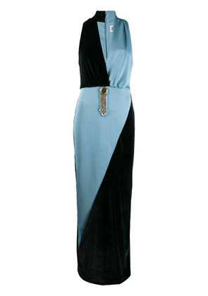 Fausto Puglisi two-tone fitted dress - Blue