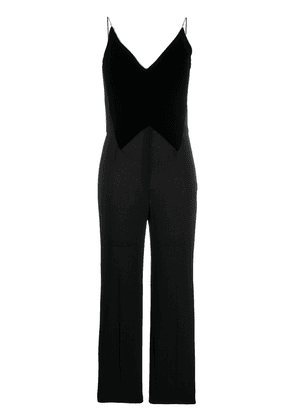 Givenchy velvet panel jumpsuit - Black