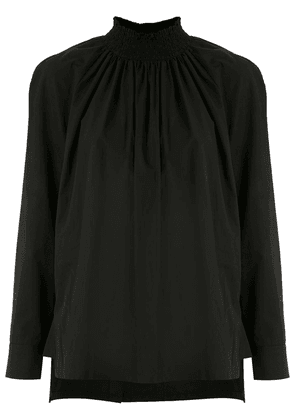 Prada ruched high-neck blouse - Black