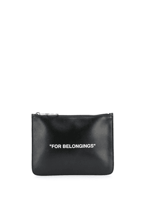 Off-White Quote pouch - Black
