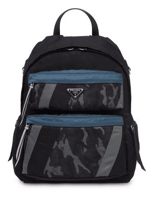 Prada technical fabric backpack - Blue