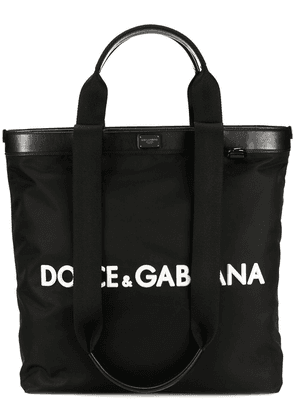 Dolce & Gabbana logo shopping tote - Black