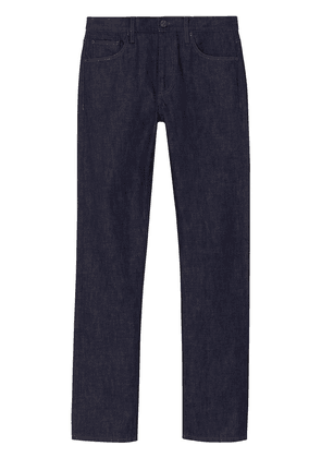 Burberry Straight Fit Japanese Selvedge Denim Jeans - Blue