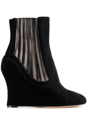 Alchimia Di Ballin metallic panelled wedge ankle boots - Black