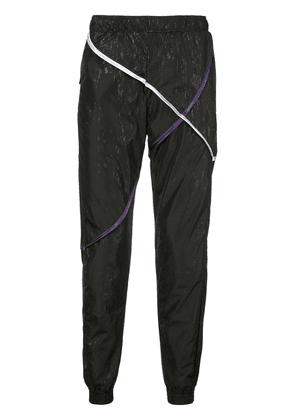 Cottweiler contrasting pipe trousers - Black