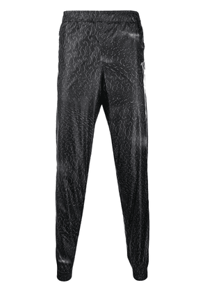 Cottweiler monogram track pants - Black