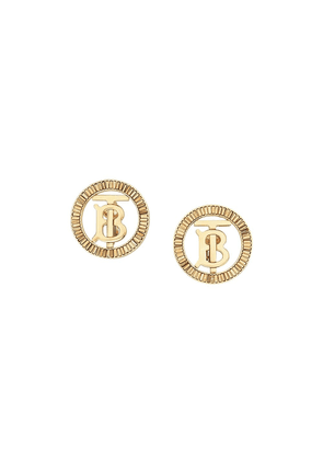 Burberry crystal-detail Monogram motif earrings - GOLD