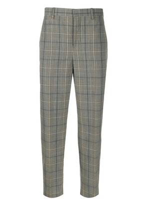 Neil Barrett checked cropped tailored trousers - Brown