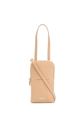 Dolce & Gabbana logo-stamped crossbody bag - Neutrals