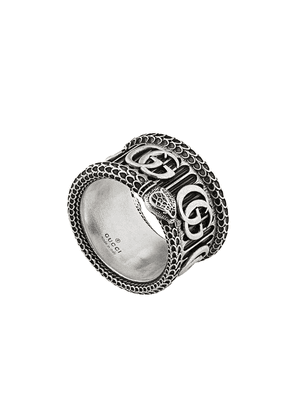 Gucci Double G motif ring - Silver