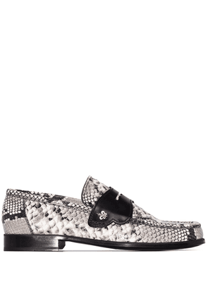 Sophia Webster Iconic snake-effect loafers - White