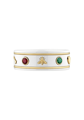 Gucci 18kt yellow gold Icon gemstone ring - 8521