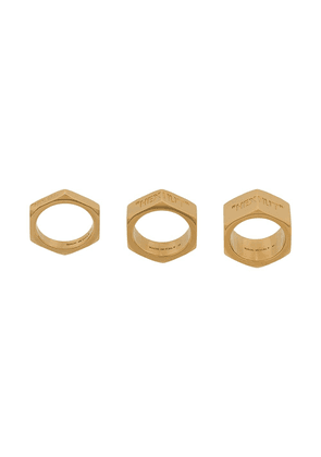 Off-White Hex Nut set of 3 rings - Gold