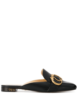 Charlotte Olympia buckle detail mules - Black