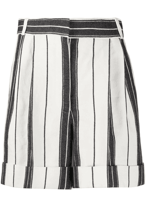 Alexander McQueen high-waist striped shorts - Black