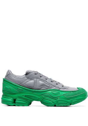 adidas by Raf Simons green and grey Ozweego leather sneakers
