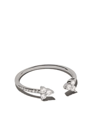 Ef Collection 14kt white gold open diamond trio ring - 105660