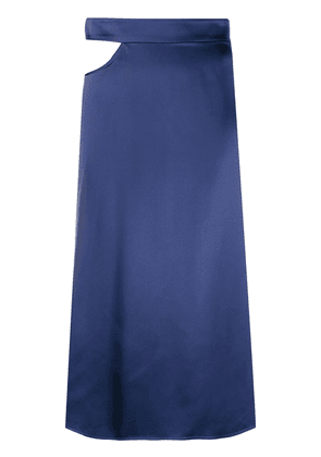 Beau Souci cut-out midi skirt - Blue