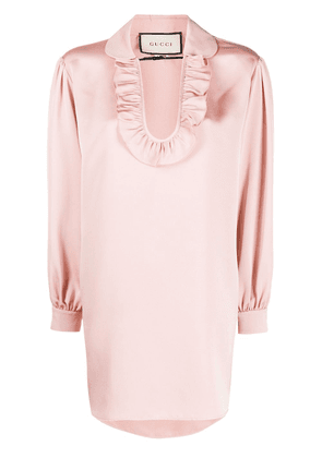 Gucci faille maxi blouse - PINK