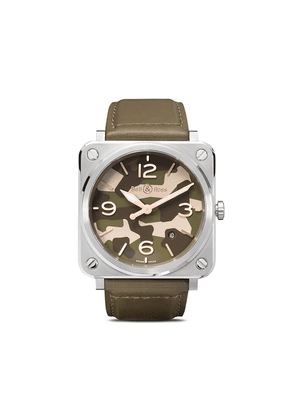 Bell & Ross BR-S Green Camo 39mm - KAKHI AND GREY
