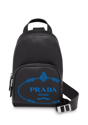 Prada Saffiano leather one-shoulder backpack - Black